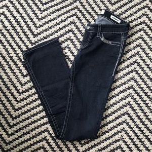 Daytrip Buckle Embellished Scorpio Bootcut Jeans